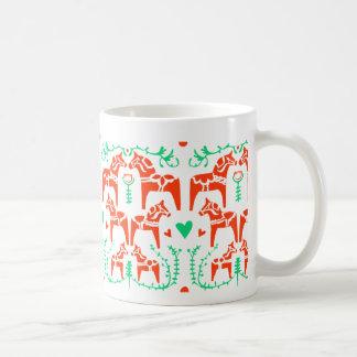 Dala Horse Classic White Coffee Mug