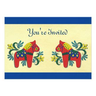 Dala Horse Party Invitation