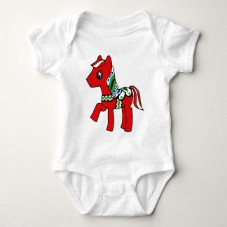 Dala Horse Pony Baby Bodysuit