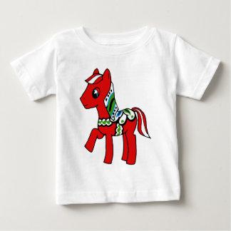 Dala Horse Pony Baby T-Shirt