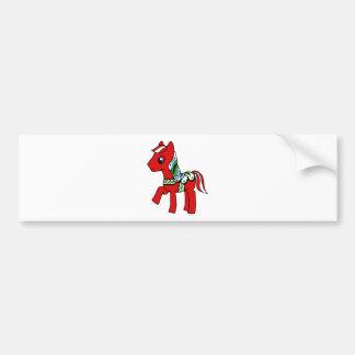 Dala Horse Pony Bumper Sticker
