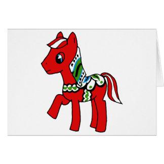 Dala Horse Pony Card