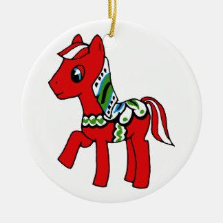 Dala Horse Pony Ceramic Ornament