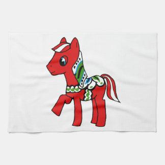 Dala Horse Pony Hand Towel
