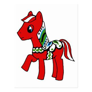 Dala Horse Pony Postcard