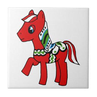 Dala Horse Pony Tile