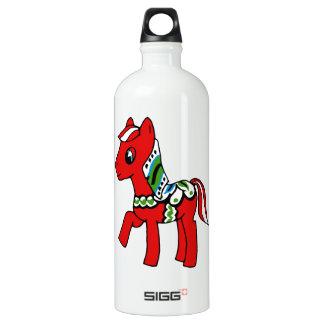 Dala Horse Pony Water Bottle