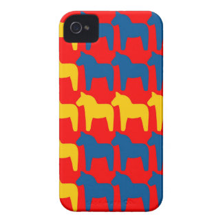 Dala Horse Red Flag iPhone 4 Covers
