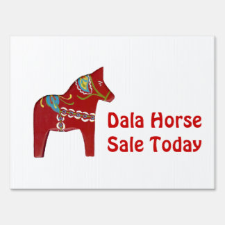 Dala Horse Sale Today Sign