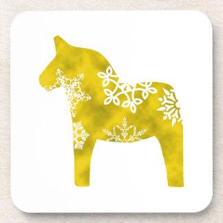 Dala Horse Snowflake Drink Coaster