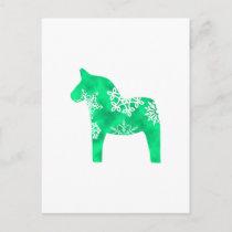 Dala Horse Snowflake Postcard