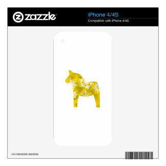 Dala Horse Snowflake iPhone 4 Decals