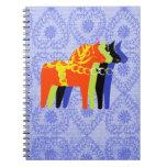 Dala Horse Spiral - Notebooks