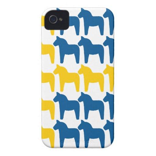 Dala Horse Sweden Flag iPhone 4 Case