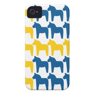 Dala Horse Sweden Flag iPhone 4 Case-Mate Case