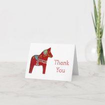 Dala Horse Thank You Card