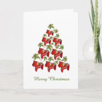 Dala Horse Thinking of You Christmas Card
