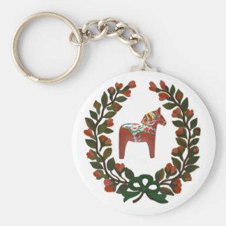 Dala Horse Wreath Keychain