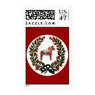 Dala Horse Wreath Postage