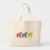 Dala Horses Large Tote Bag