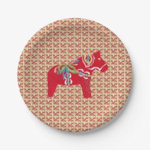 Dala Horses Paper Plate  sc 1 st  Zazzle & Dala Horse Plates | Zazzle