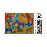 Dala Horses Postage Stamp