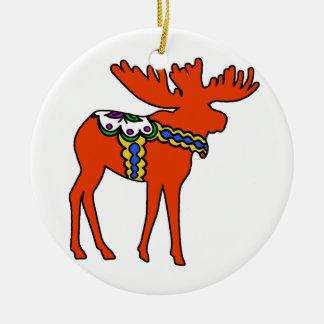 Dala Moose Ceramic Ornament