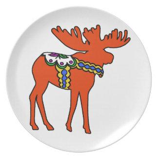 Dala Moose Dinner Plate