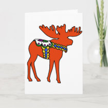 Dala Moose Holiday Card