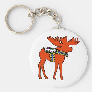 Dala Moose Keychain
