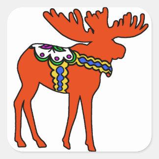 Dala Moose Square Sticker