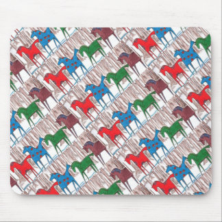 Dala Ponies in the Woods Mouse Pad