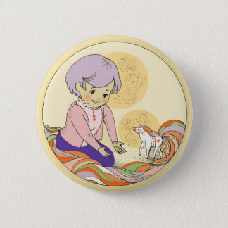 Dala the Magical ponytail button