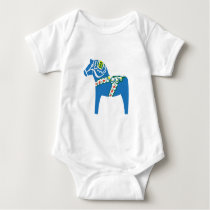 Dalahäst | Dala horse blue Baby Bodysuit