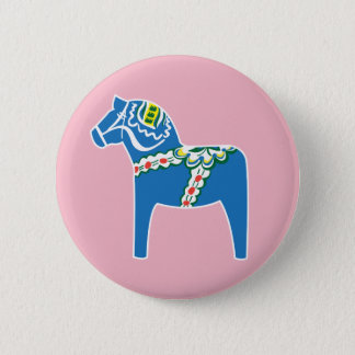 Dalahäst | Dala horse blue Button