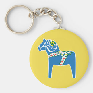 Dalahäst | Dala horse blue Keychain