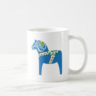 Dalahäst   Dala horse blue mugg Coffee Mug