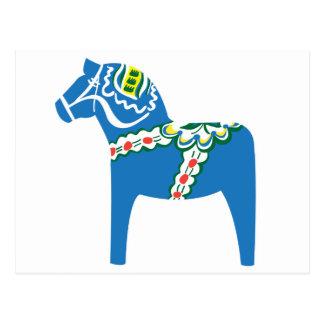 Dalahäst | Dala horse blue Postcard