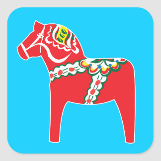 Dalahäst   Dala horse Stickers