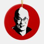Dalai Lama Adorno Redondo De Cerámica