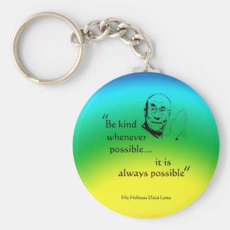 Dalai Lama: Be Kind Basic Round Button Keychain