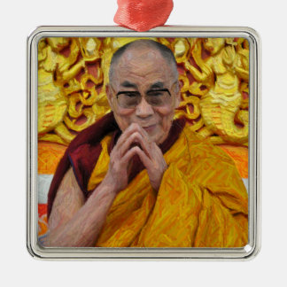 Dalai Lama Buddha Buddhist Buddhism Meditation Metal Ornament