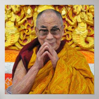 Dalai Lama Buddha Buddhist Buddhism Meditation Poster
