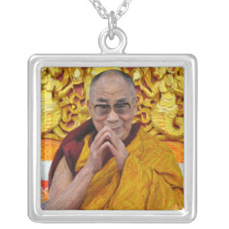 Dalai Lama Buddha Buddhist Buddhism Meditation Silver Plated Necklace