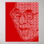 Dalai Lama desobedece el poster sonriente