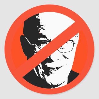 Dalai Lama Etiqueta Redonda