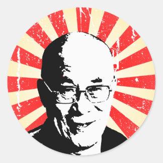 Dalai Lama Pegatina Redonda