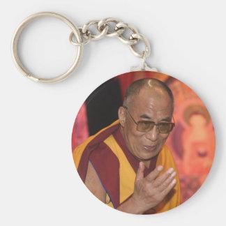 Dalai Lama Photo / The Dalai Lama Tibet Basic Round Button Keychain