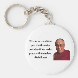 dalai lama quote 10b basic round button keychain