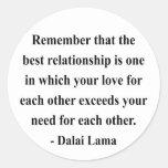 dalai lama quote 11a classic round sticker